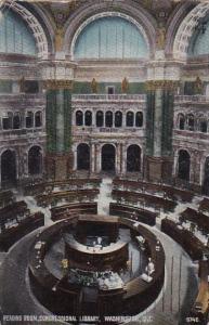 Washington DC Reading Room Congeressional Library 1912