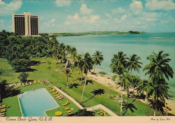 Guam Tumon Beach Aerial View