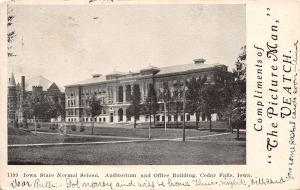 Cedar Falls IA State Normal School~UNI~Auditorium/Office~Veatch 1906 Wilton Jct