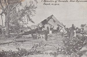 SYRACUSE , New York , 1912 ; Results of Tornado, Destroyed House