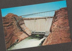 GLEN CANYON DAM Postcard Lake Powell Arizona Colorado River