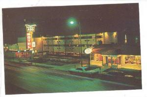 Night scene, Imperial 400 Motel, Omaha, Nebraska, 40-60s