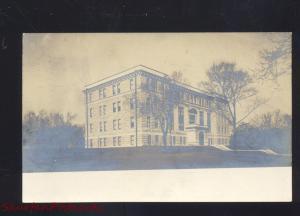 RPPC CARTHAGE MISSOURI HIGH SCHOOL BUILDING VINTAGE REAL PHOTO POSTCARD MO.