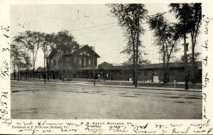 VT - Rutland. Railroad Station, Depot