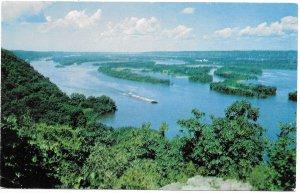 US Mississippi River. unused. Pike's Peak State Park, McGregor, Iowa.