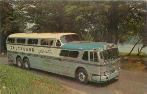 Greyhound Bus Scenicruiser Service~Leave Driving to Us~Silver Teal~1961 LL Cook