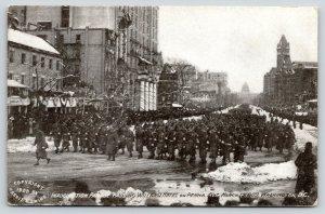 Washington DC~President Taft Inauguration Parade~Troops Pass Willard Hotel~1909