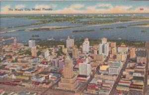 Florida Miami The Magic City Aerial View 1957