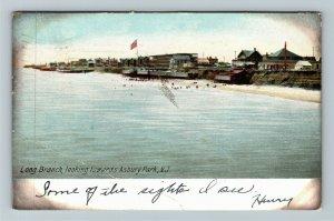 Asbury Park NJ-New Jersey, Long Branch, Vintage c1906 Postcard
