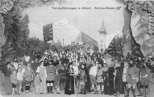 Switzerland Uri Tell-Auffuehrungen in Altdorf - Schluss-Scene 1908