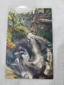 Antique Postcard entitled Luzern, Gletschergarten, Riesentopf 9 m Tiefe