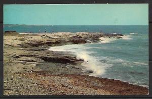 Rhode Island, Newport - Surf Fishing Along Ocean Drive