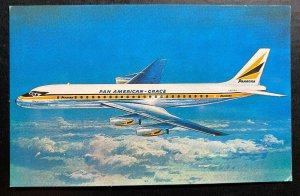 Mint Aviation Picture Postcard PPC Pan American Grace PANAGRA Douglas Dc-8