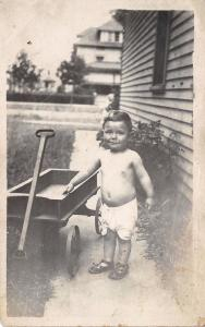 This is the Way I'm Dressed in Hot Weather~Robert Hering~Wooden Wagon RPPC 1920s