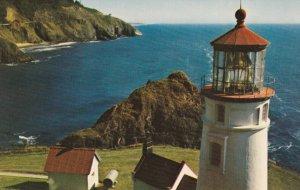 OREGON, 1950-1960's; Haceta Head Lighthouse, Oregon Coast