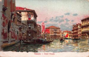 Grand Canal, Venice, Italy, Early Postcard, Unused