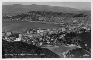 New Zealand Wellington from Tinakori Hill real photo Postcard