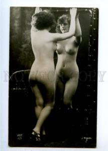 177935 NUDE Woman MIRROR Belle Vintage MANDEL AN PHOTO #207