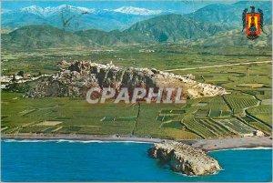 Postcard Modern Salobrena Granada Aerial view