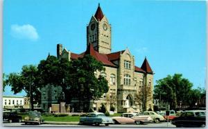 Nevada, Missouri Postcard VERNON COUNTY COURT HOUSE Curteich Chrome c1950s