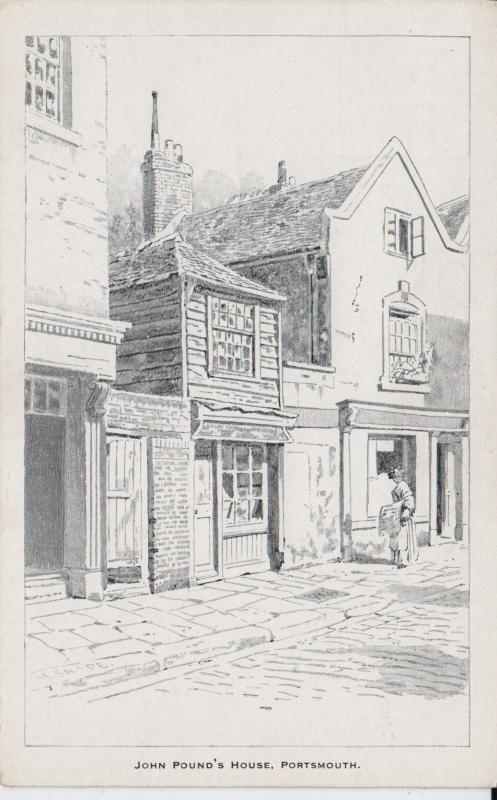 John Pound's House,  Portsmouth, England - Drawing - Unused