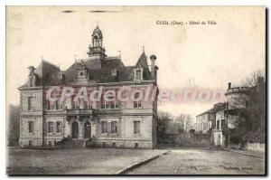 Postcard Old Oise Creil City Hall