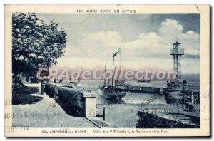 Old Postcard Amphion Les Bains Villa Des lime port