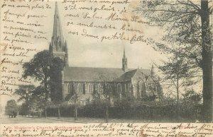 Postcard UK England North Hampton St Matthew church