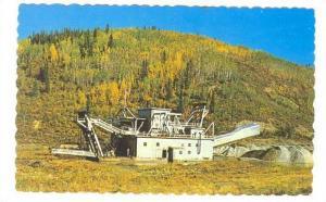 Gold Dredge on a gold creek near Dawson City, Yukon,40-60s
