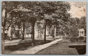 East Orange New Jersey~Prospect Street Homes~Car Drives Toward William~c1910