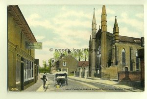 tp5938 - Hants - Christchurch Road & Congregational Church, Ringwood - Postcard