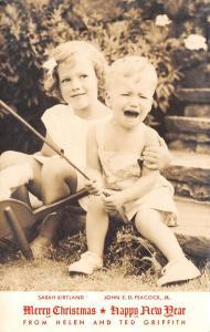 Christmas~Helen Ted Griffith~Indianapolis~Sarah Kirtland~John Peacock~1947 RPPC