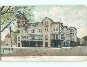 Unused Pre-1907 CITY HOTEL Tauton Massachusetts MA n5544