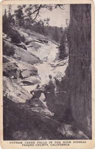 Putnam Creek Falls In The High Sierras, Fresno County, California, California...