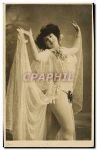 Postcard Old erotic Nude Woman