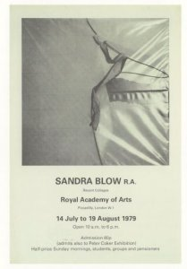 Sandra Blow 1979 Painting London Gallery Exhibition Postcard