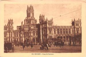 Spain Old Vintage Antique Post Card Casa de Correos Madrid Writing on back