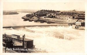 Great Falls Montana Black Eagle Falls Real Photo Antique Postcard K98568