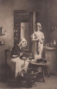 Victorian Jam Treacle Makers Making Postcard