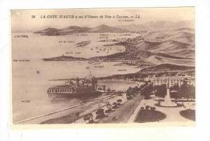 La Cote D'Azur A Vol d'Oiseau  De Nice A Cannes, Nice (Alpes-Maritimes), Fran...