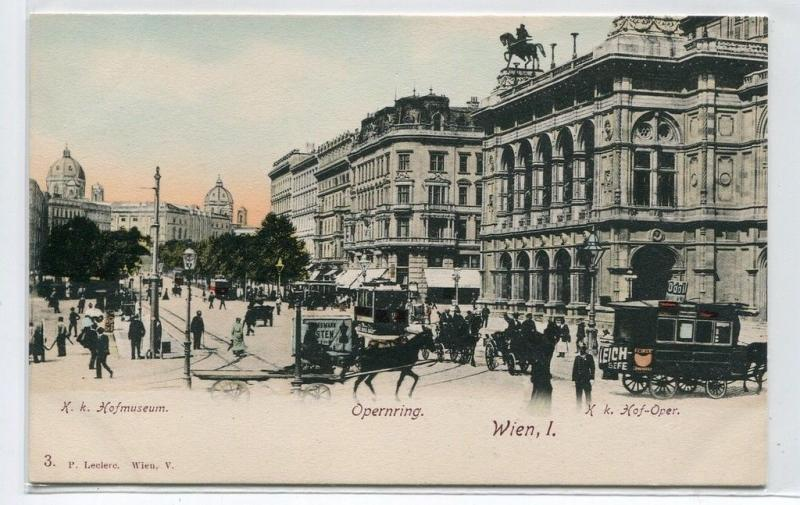 Hofmuseum Opernring Hof Oper Wien Vienna Austria 1907 postcard
