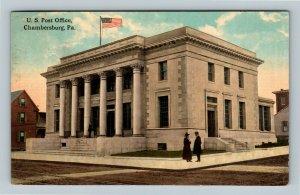 Chambersburg PA, US Post Office, Vintage Pennsylvania c1913 Postcard