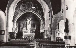 RP: BARBOTAN les Thermes (Gers) , France , 1930s-50s ; Interieur de l'Eglise