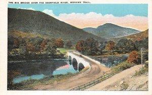 LPS73 Mohawk Trail Massachusetts Big Bridge over Deerfield River Postcard