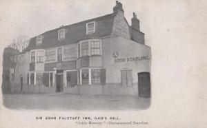 Sir John Falstaff Inn Gads Hill London Antique Postcard