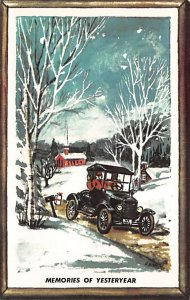 Vinatge Auto Pre 1950 Post Card Memories of Yesteryear, Happy Holiday Season ...