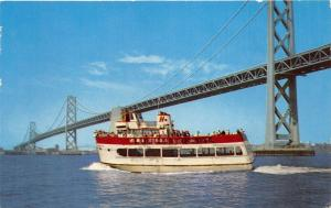 San Francisco California~MS Harbor Queen Boat~Pier 43 @ Fishermans Wharf~1965