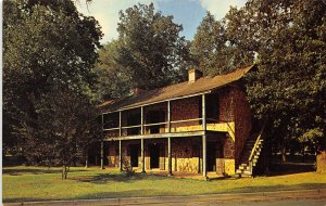 Nacogdoches Texas 1960s Postcard The Old Stone Fort SFA College Campus