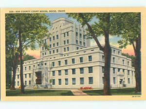 Unused Linen COURT HOUSE Boise Idaho ID n4573