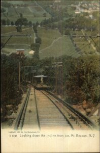 Mt. Beacon NY Incline RR Car c1905 Rotograph Postcard